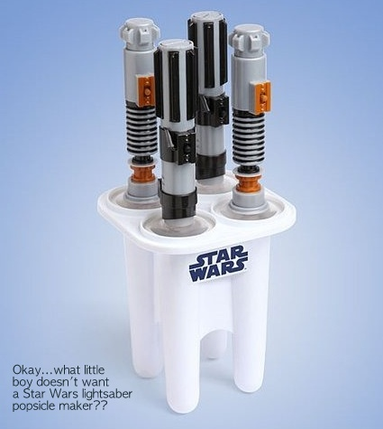 A Bolt of Blue - Star wars popsicle maker