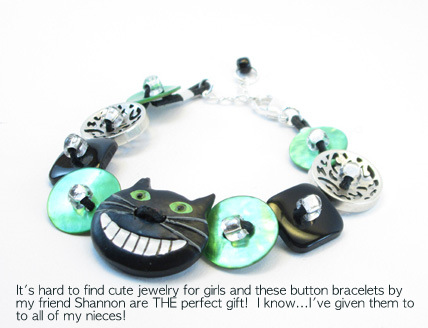 A Bolt of Blue - Button bracelets by Shannon Leen