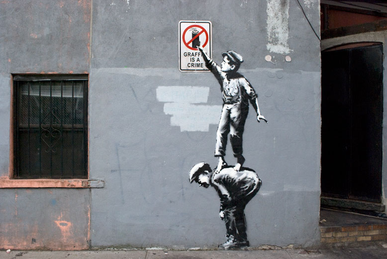 A Bolt of Blue - Banksy in NY
