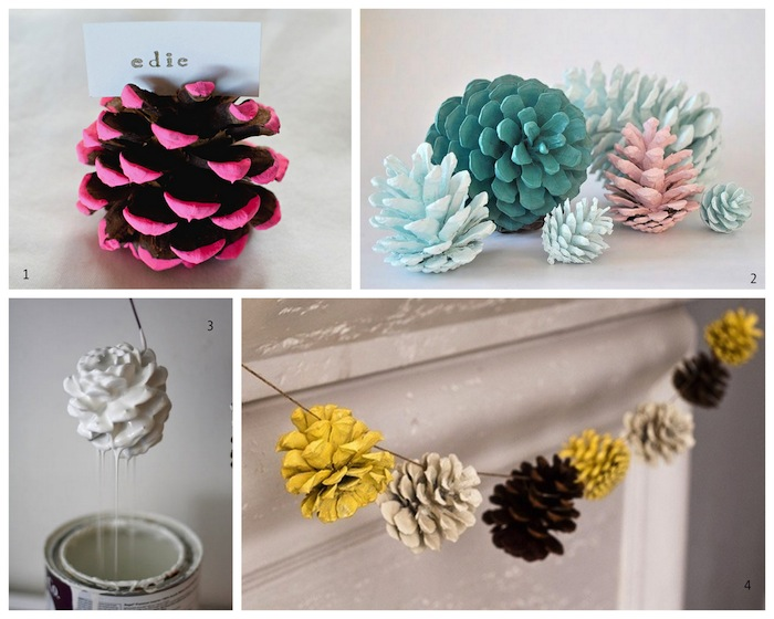 A Bolt of Blue - Cool idea...PINE CONES!