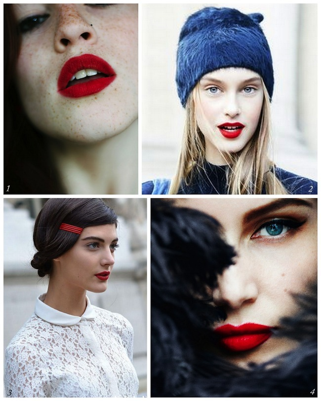 A Bolt of Blue - Red Lips for the Holidays!