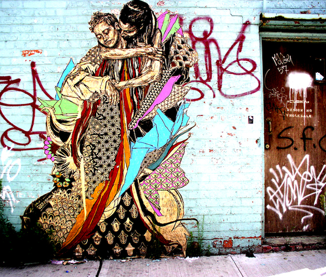 A Bolt of Blue - Street artist SWOON