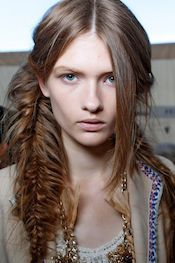 A Bolt of Blue - Fishtail braids