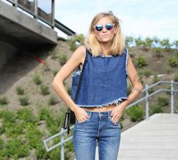 A Bolt of Blue - Summer Street Style!