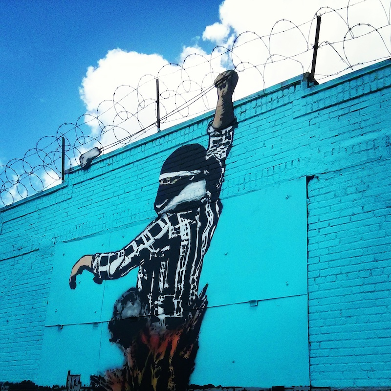 A Bolt of Blue - Street Art: Bushwick, Brooklyn