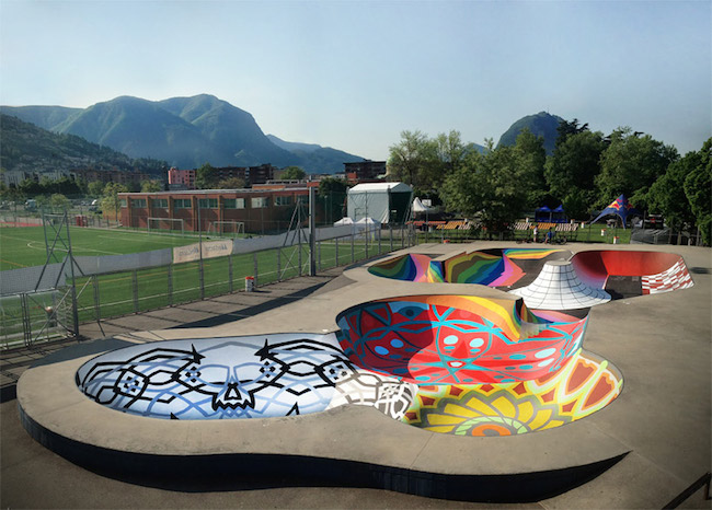 A Bolt of Blue - ZUKCLUB skateboard park in Lugano