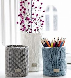 A Bolt of Blue - Recycled Sweaters! Ferm Living