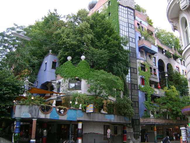 A Bolt of Blue - Green Walls :Hundertwasser Haus Vienna