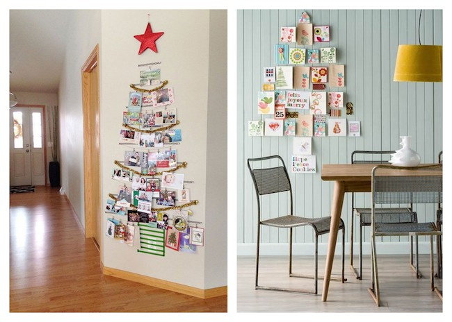 A Bolt of Blue | Cool Ways to Display Christmas cards!