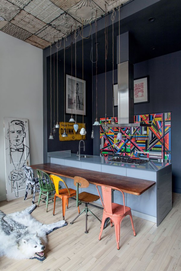 A Bolt of Blue - Houssein Jarouche's Chelsea Loft
