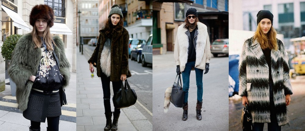 A Bolt of Blue - Winter Fashionistas!