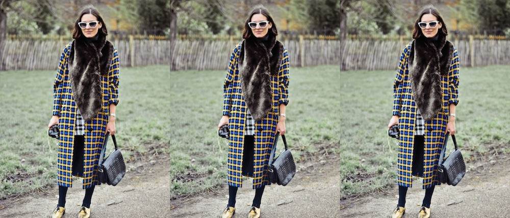 A Bolt of Blue - Winter Street Style