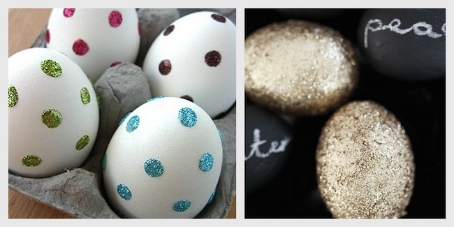 A Bolt of Blue - Egg decorating!