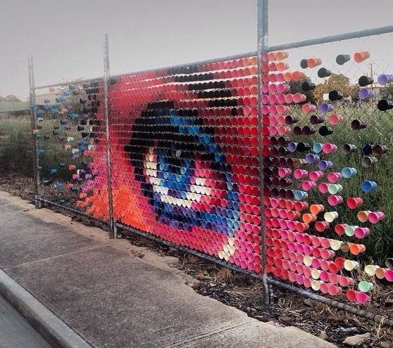 A Bolt of Blue - by Hyde & Seek Arts using cups in Adelaide