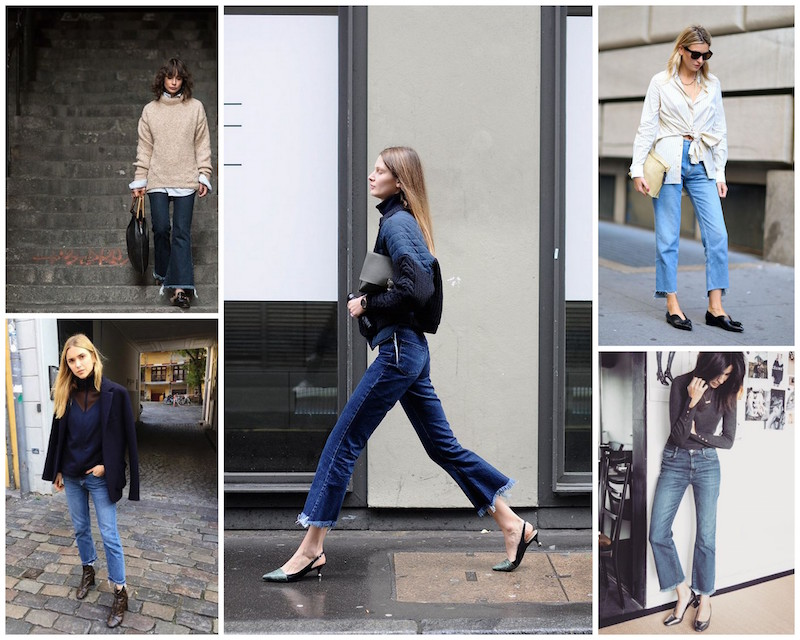 A Bolt of Blue - Street Style: Frayed jeans