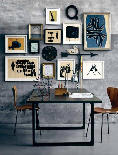 A Bolt of Blue - Dining Room Art Walls