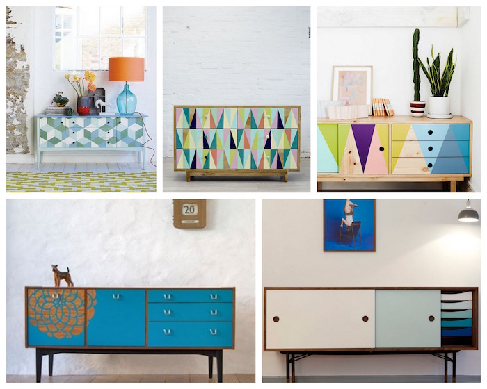 a bolt of blue cool idea painted furniture