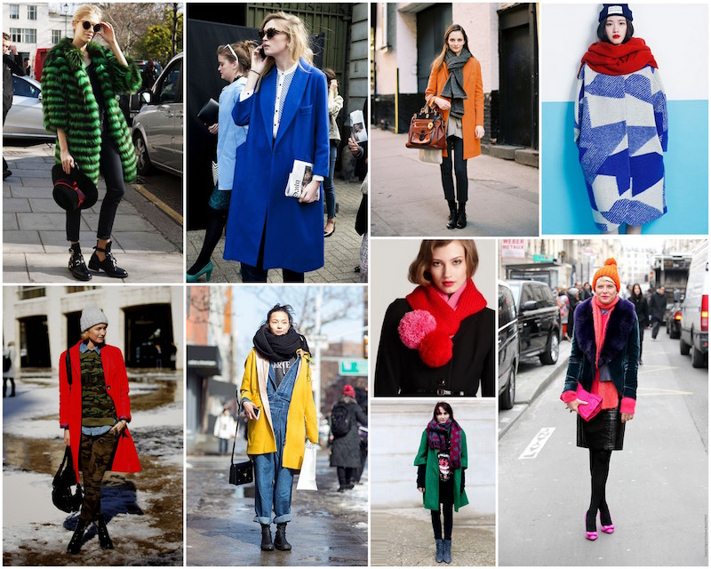 A Bolt of Blue - Winter Pops of COLOR!