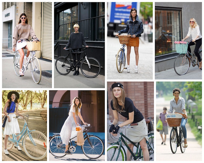 A Bolt of Blue - Bike Chic!