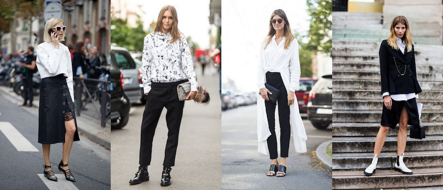 A Bolt of Blue - Spring Fashion: Black + White