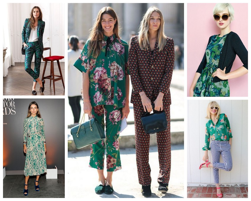A Bolt of Blue - Spring Fashion: Flower Power
