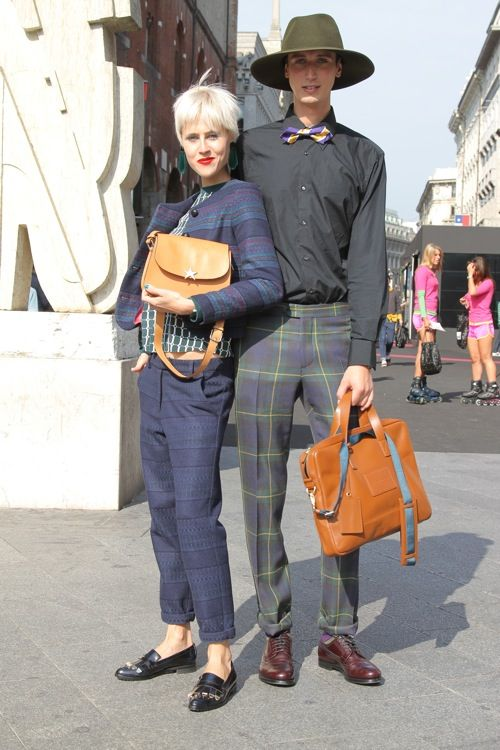 A Bolt of Blue - Fashionista Couples